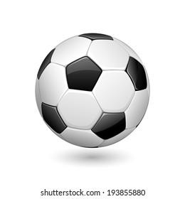 illustration of soccer ball on white background