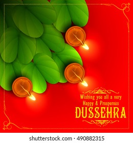 illustration of Sona patta for wishing Happy Dussehra