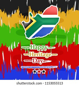 illustration of South Africa Heritage Day background