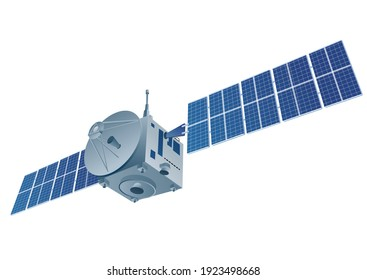 illustration of the space orbital satellite on the white background
