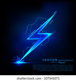 illustration of sparkling lightning bolt with electric effect