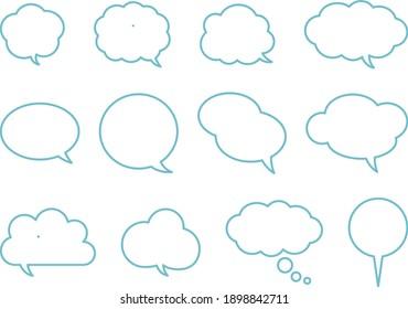It is an illustration of speech bubble.
