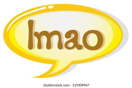 illustration of a speech bubble and a callout on a white background