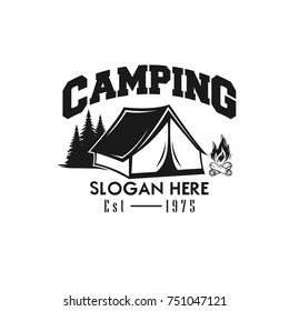 Illustration for sport camping, climbing, emblem climbing, hobby illustration. Vintage mountain camping vector logo and labels set.