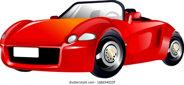 Illustration of sport car, with white background vector