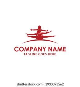 Illustration sport family silhouette sign logo design