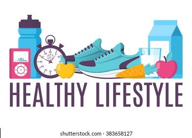 Illustration sport fitness healthy lifestyle