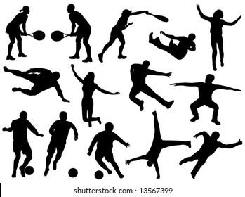 Illustration of sport silhouettes