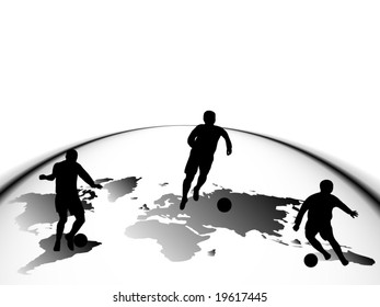 Illustration of sport silhouettes