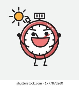An illustration of Sport Timer Vector Character