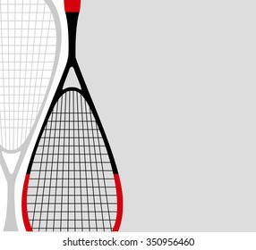 Illustration of a squash racket