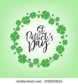 Illustration of St Patrick's Day celebration poster design.