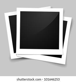 illustration of stack of retro style photo frames