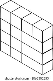 Illustration of Stacked Boxes