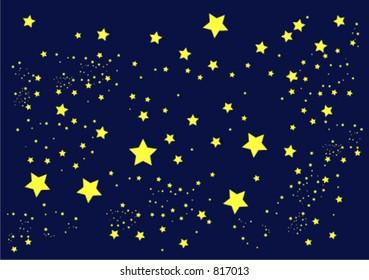 illustration of stars against a dark blue sky
