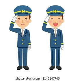 Illustration of station staff.