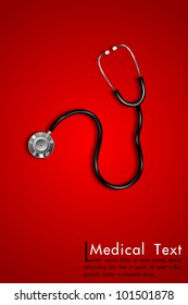 illustration of stethoscope on abstract medical background