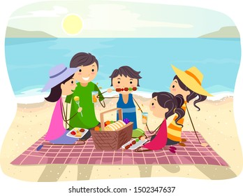 Cartoon family having picnic outdoor | Family cartoon, Drawing for kids,  Painting for kids