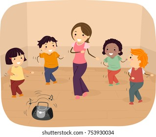 Children Dance Clipart Images Stock Photos Vectors Shutterstock
