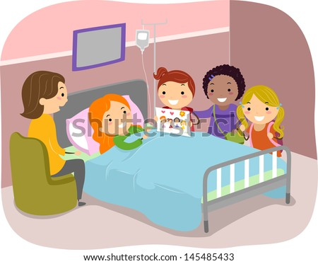 illustration stickman kids paying visit friend stock vector royalty