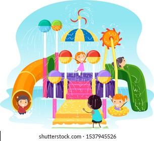 Water Park Cartoon High Res Stock Images Shutterstock
