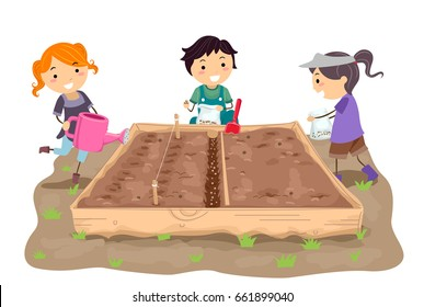 Father Son Watering Plants Garden Illustration Stock Vector (Royalty Free)  397040050