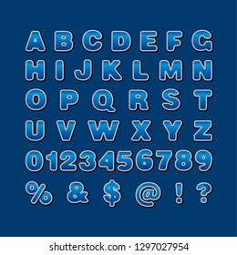Illustration of stitched stickers English Alphabet capital letters vector