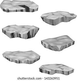 illustration  stone set