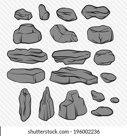 illustration stones set