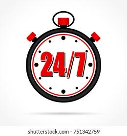 Illustration of stopwatch icon on white background