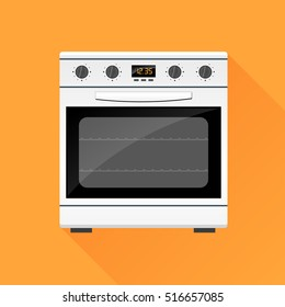 Illustration of stove gas oven design icon