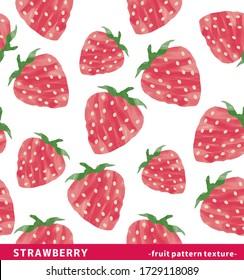 Illustration of strawberry seamless background.
