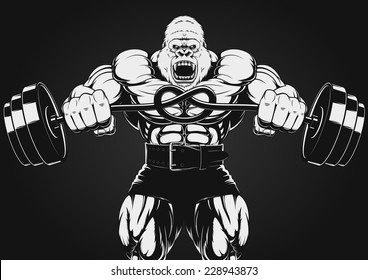 illustration of the strong gorilla