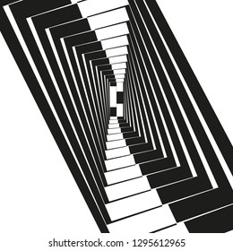 Illustration of the style of Escher. Hypnotic texture for psychology or philosophy.