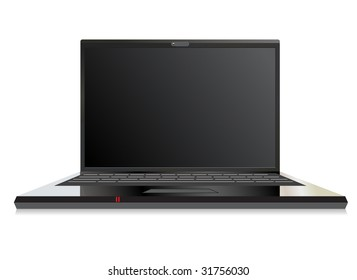 Illustration of a stylish laptop computer