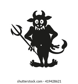 An illustration of a stylized troll or other monster