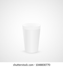Illustration of a styrofoam coffee cup isolated on a white background.