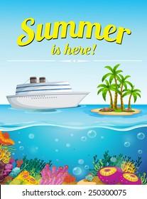 Illustration of summer holiday poster