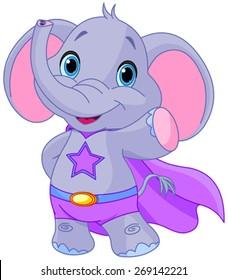 Illustration of Super Hero Elephant