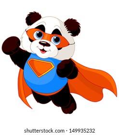 Illustration of Super Hero Panda