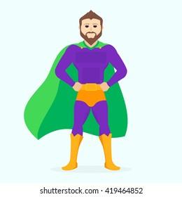 Illustration superman. Vector Superhero