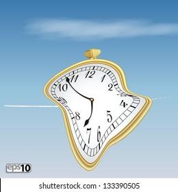 Illustration surreal soft clock