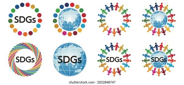 Illustration des objectifs de développement durable. ODD.