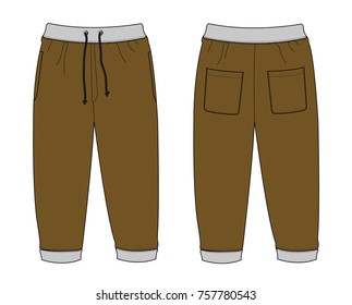 Illustration of Sweat Pants (brown)