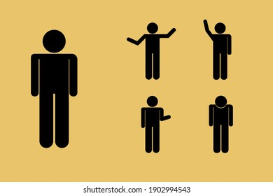 Illustration of symbol pictures of people doing various poses