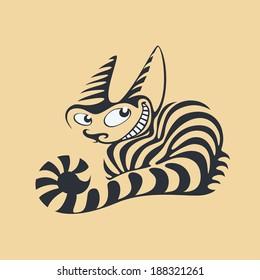 Illustration of tabby cat