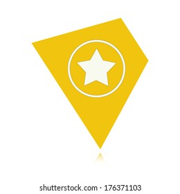 the illustration of tag  with star pictogram / The tag with star / the rating icon