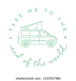 Illustration Mit Bus zum Ende der Welt