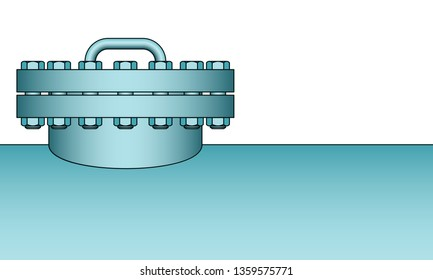 Illustration of tank with closed manhole