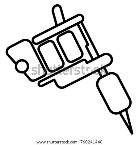 Illustration Tattoo Machine Icon On White Stock Vector Royalty Free